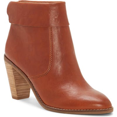 Lucky Brand Nycott Leather Bootie- Brown
