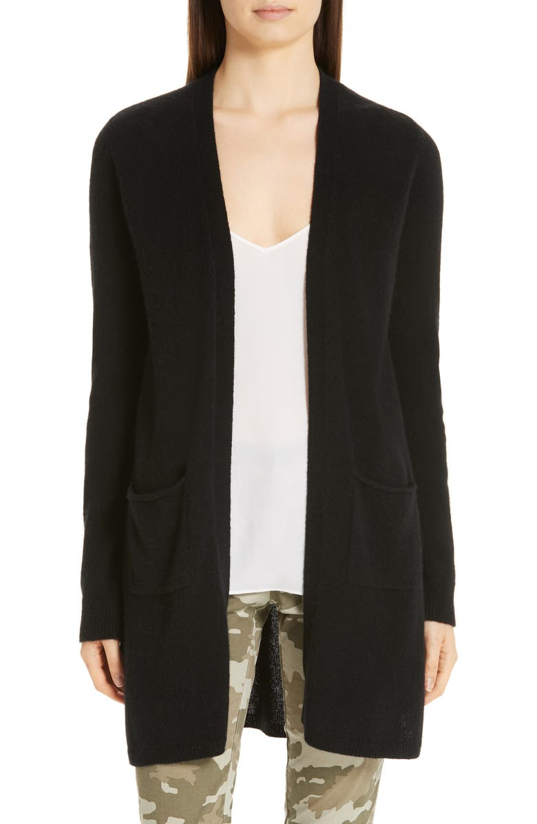 ATM ANTHONY THOMAS MELILLO Cashmere Open Cardigan, Main, color, BLACK