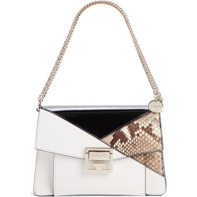 Givenchy Small Gv3 Patchwork Leather Crossbody Bag - White