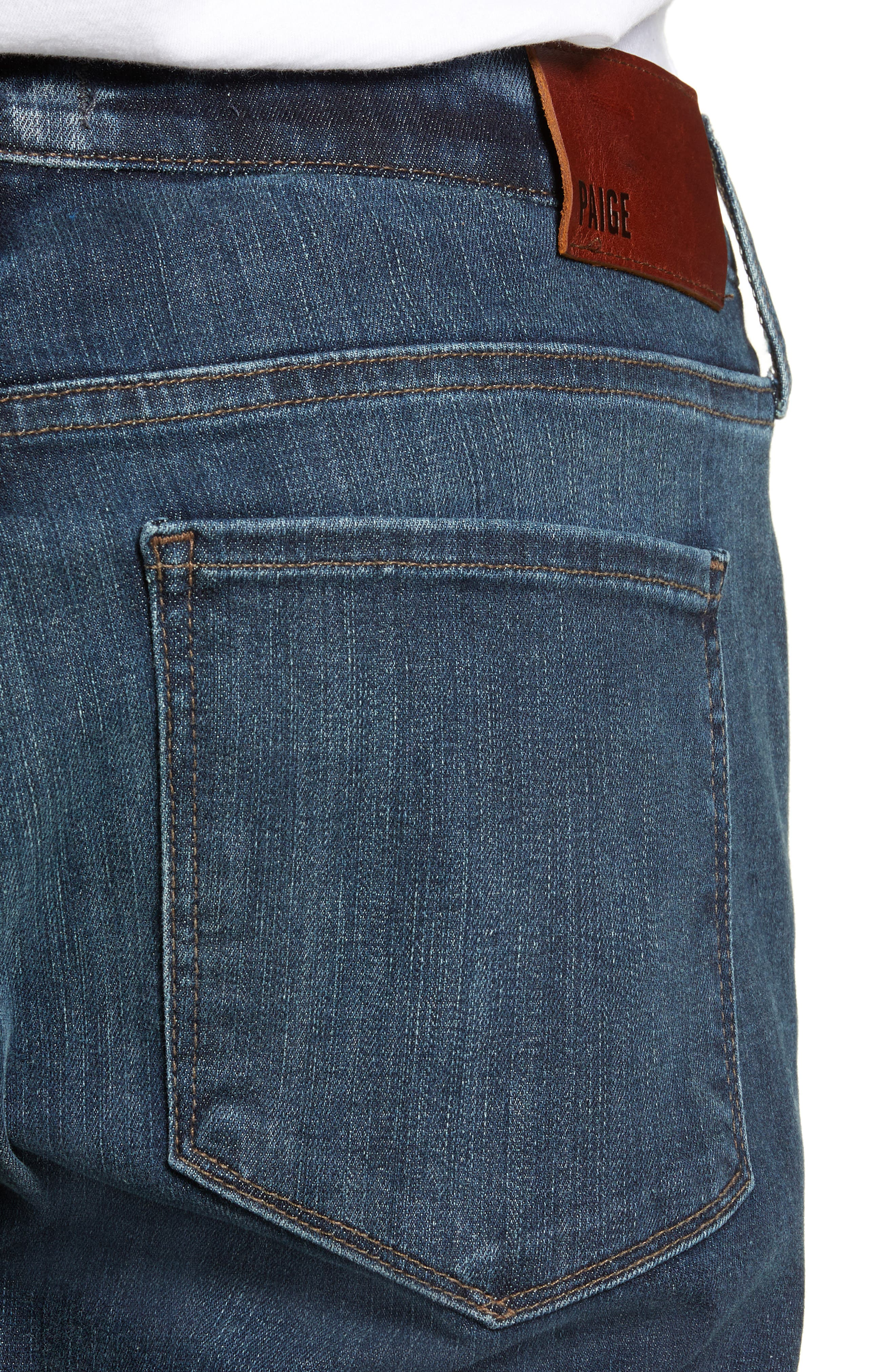 ,                             Transcend Vintage Federal Slim Straight Leg Jeans,                             Alternate thumbnail 5, color,                             400