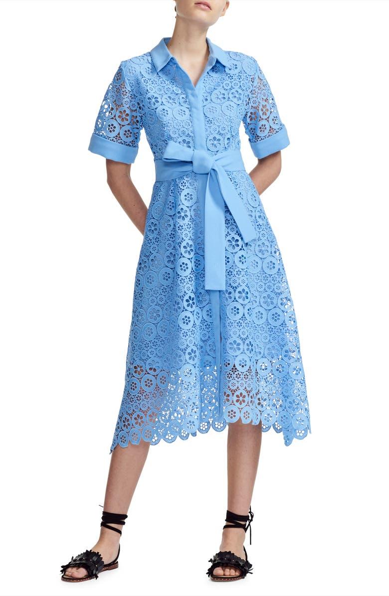 MAJE Ralfa Guipure Lace Dress, Main, color, 400