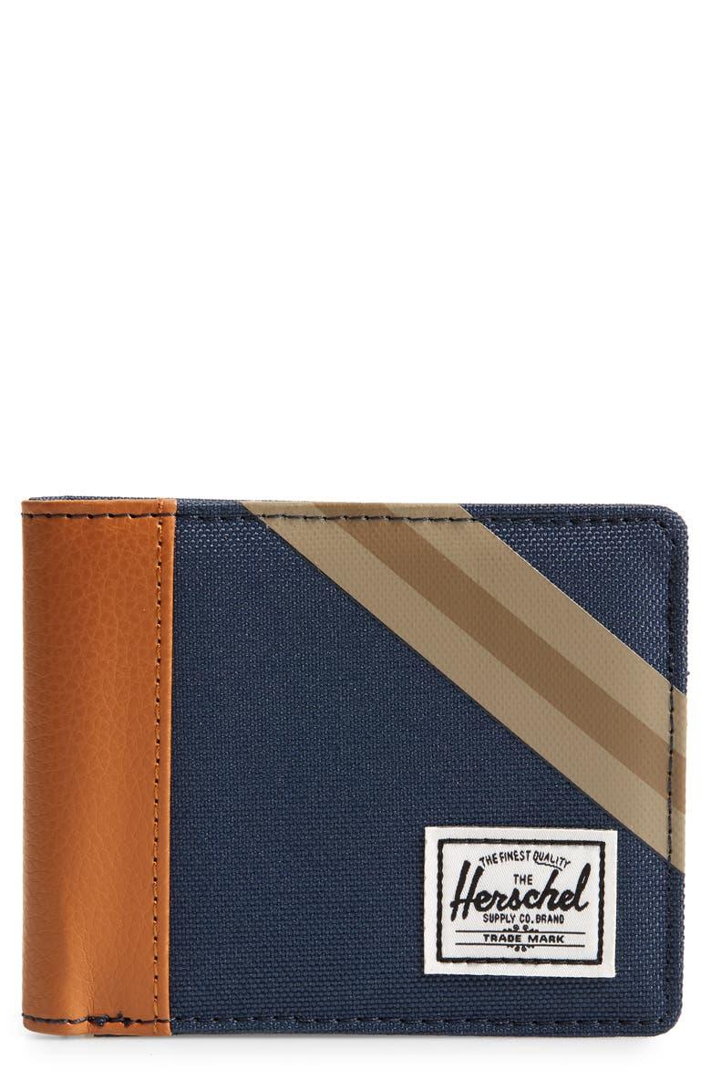 HERSCHEL SUPPLY CO. Roy RFID Wallet, Main, color, NAVY