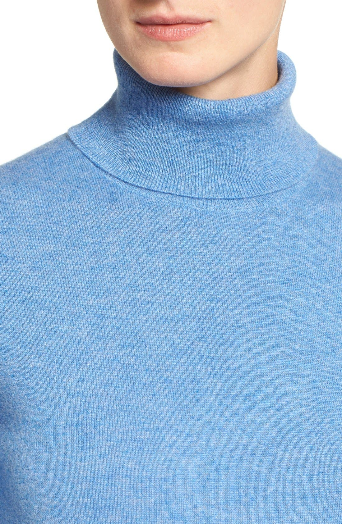 ,                             Long Cashmere Turtleneck Sweater,                             Alternate thumbnail 41, color,                             420