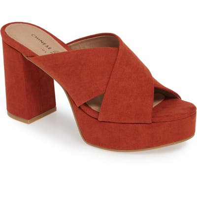 Chinese Laundry Teagan Cross Strap Platform Sandal, Red