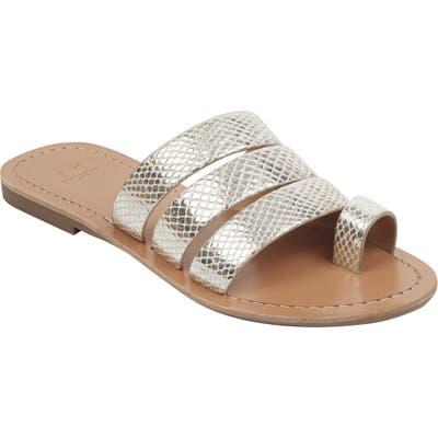 Marc Fisher Ltd Rilee Slide Sandal, Metallic