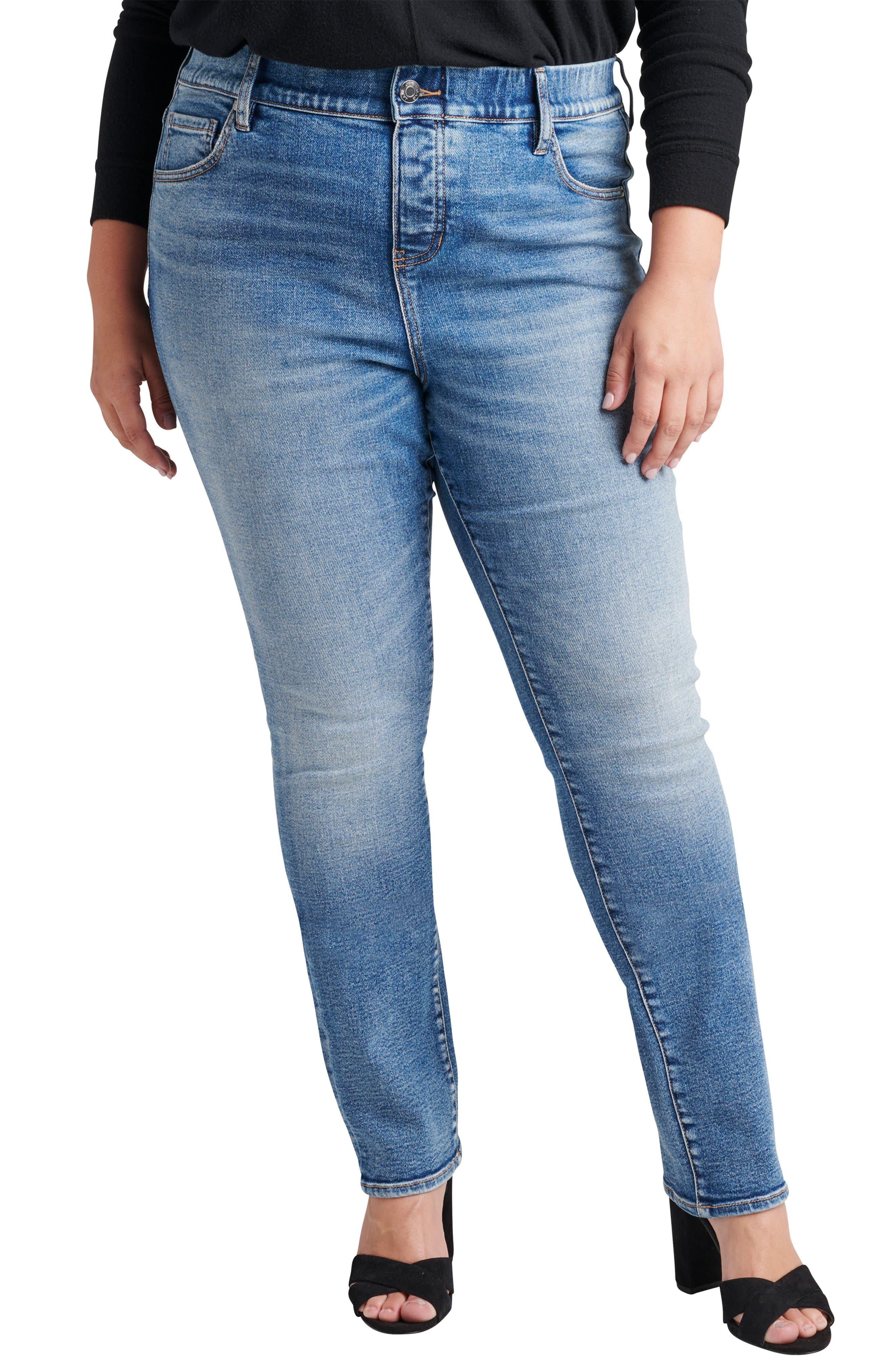Valentina Pull On Straight Leg Jeans