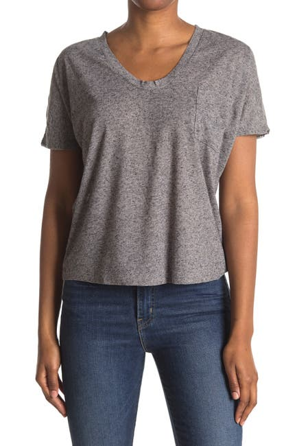 Image of H By Bordeaux Speckle Pocket T-Shirt