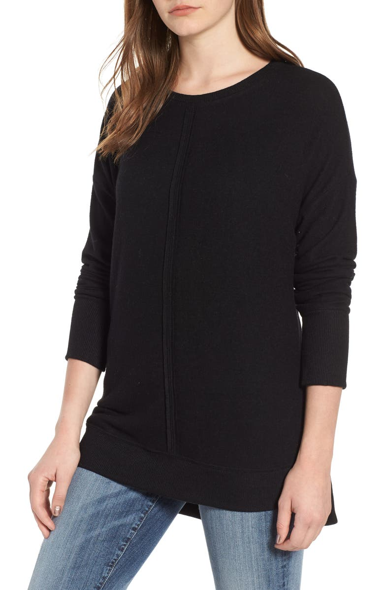 GIBSON Cozy Tunic, Main, color, BLACK