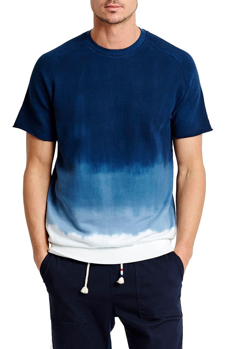 SOL ANGELES Ombré Cutoff Sweatshirt, Main, color, INDIGO