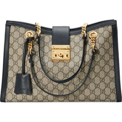 Gucci Medium Padlock Gg Supreme Canvas Tote -