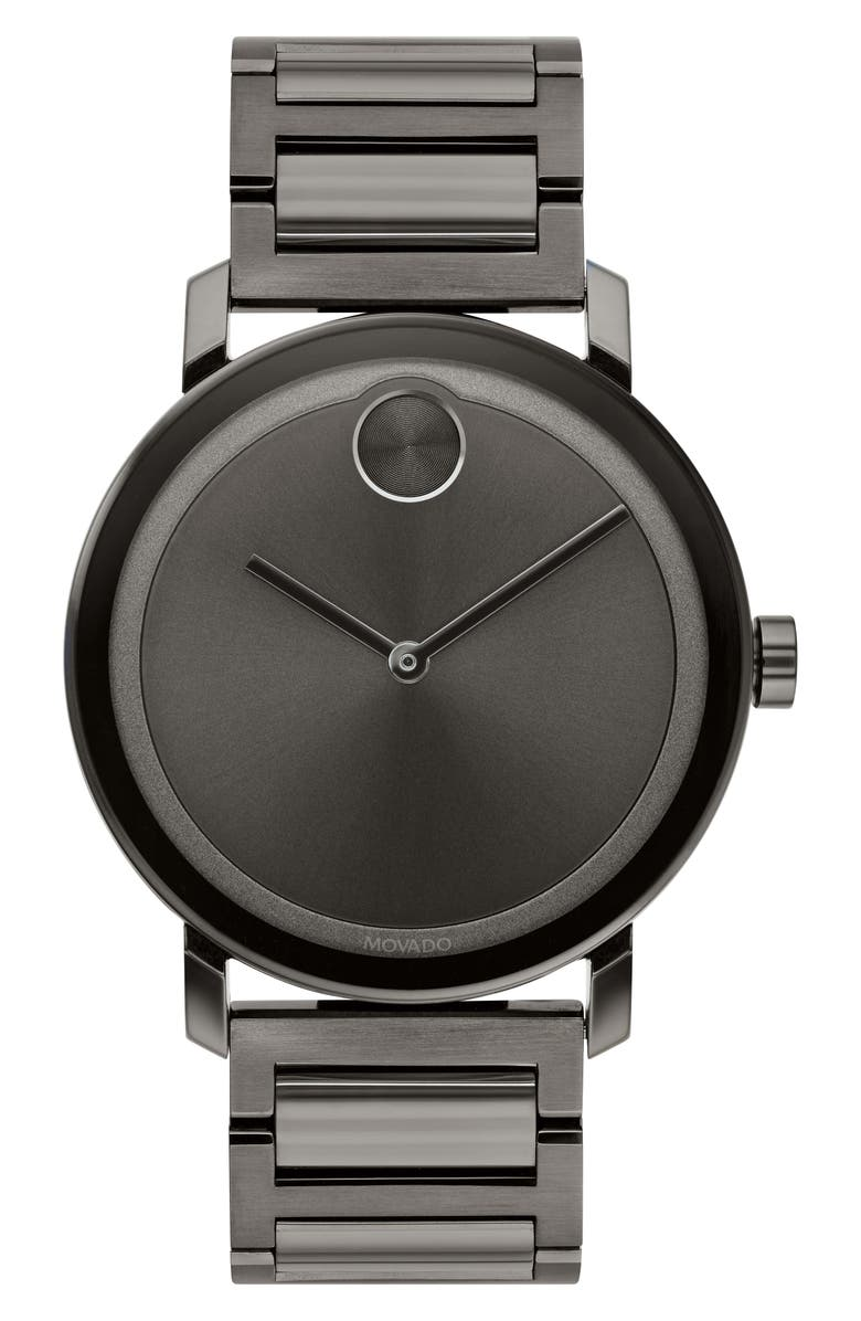 MOVADO Bold Evolution Bracelet Watch, 40mm, Main, color, GUNMETAL