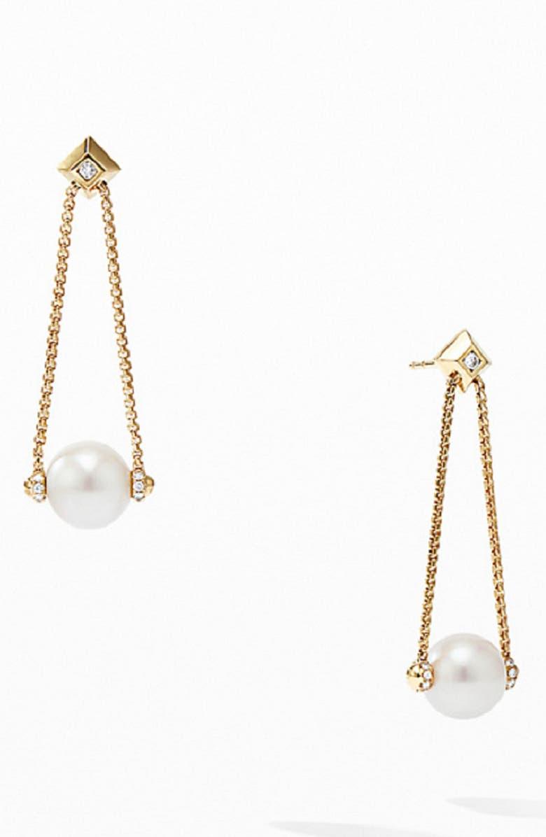 c6a2b2baf8d52 David Yurman Solari Pearl Drop Earrings with Diamonds in 18K Yellow ...