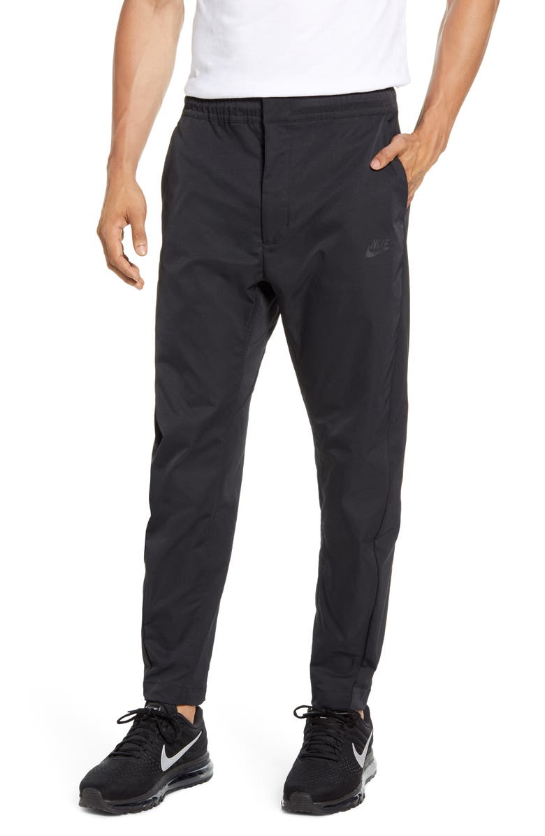 NIKE Sportswear Woven Pants, Main, color, BLACK/ BLACK