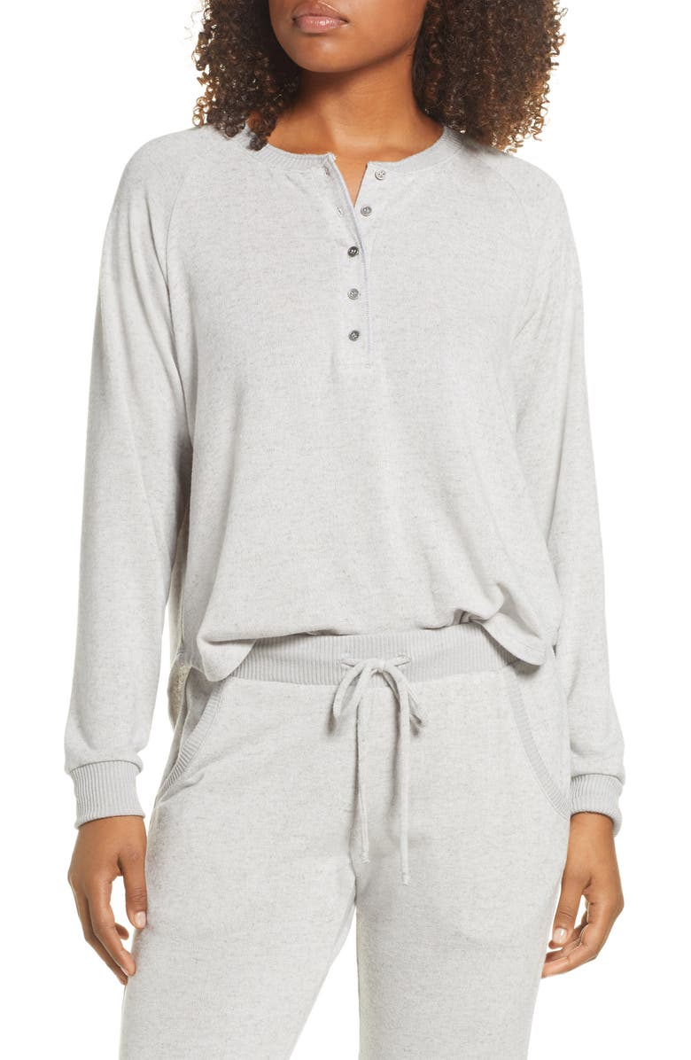 PROJECT SOCIAL T Heathered Henley Top, Main, color, 020