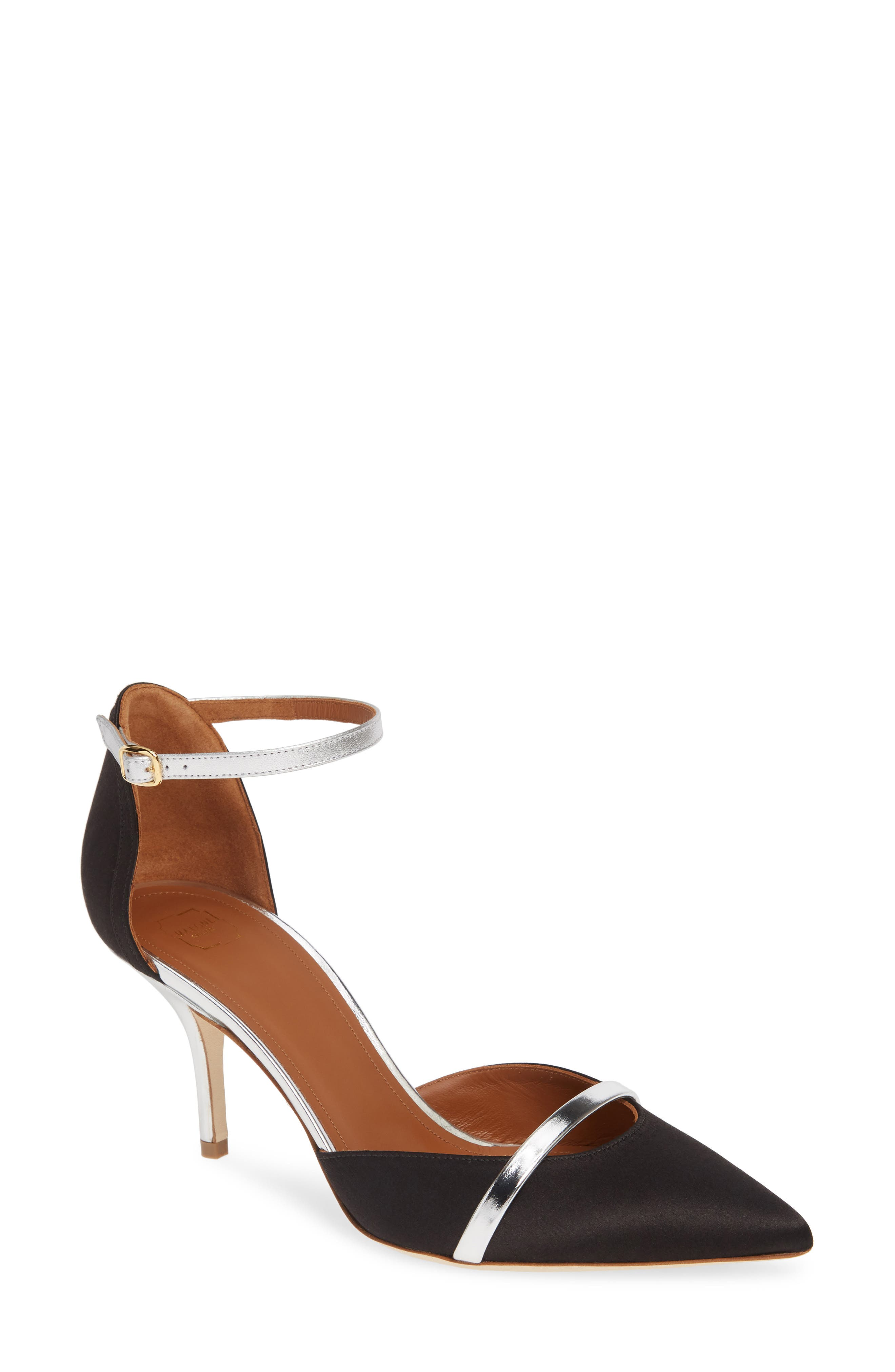 Malone Souliers Booboo Ankle Strap Pump - Black