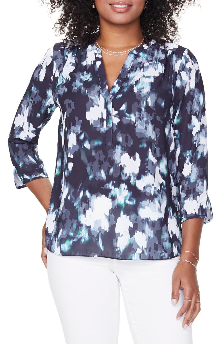 CURVES 360 BY NYDJ Perfect Blouse, Main, color, BILLOWING FOG