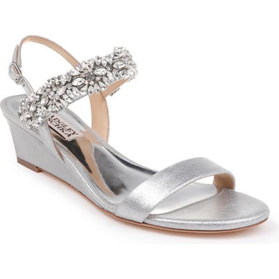 Badgley Mischka Larisa Wedge Sandal- Metallic