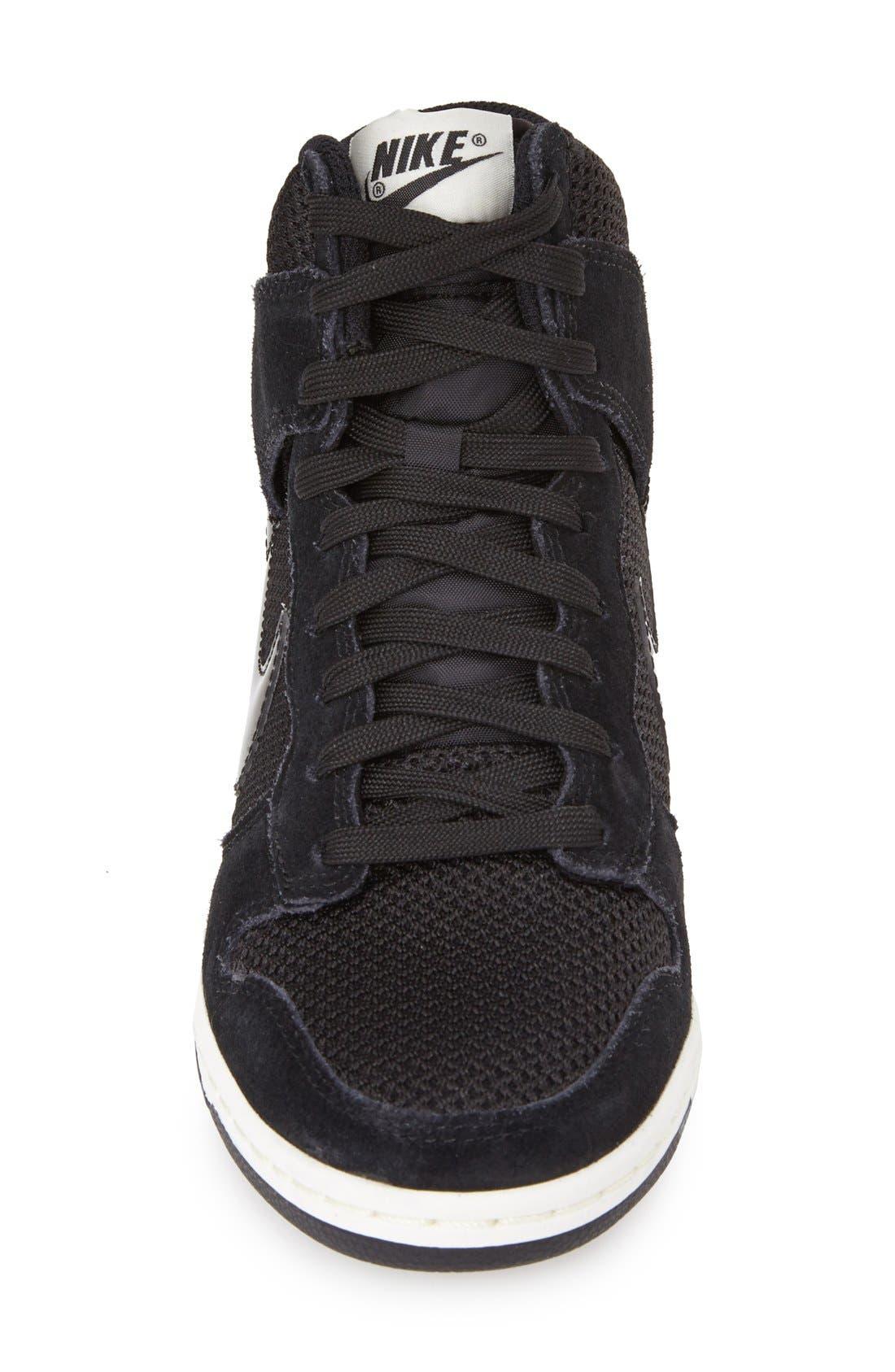 ,                             'Dunk Sky Hi - Essential' Wedge Sneaker,                             Alternate thumbnail 4, color,                             001