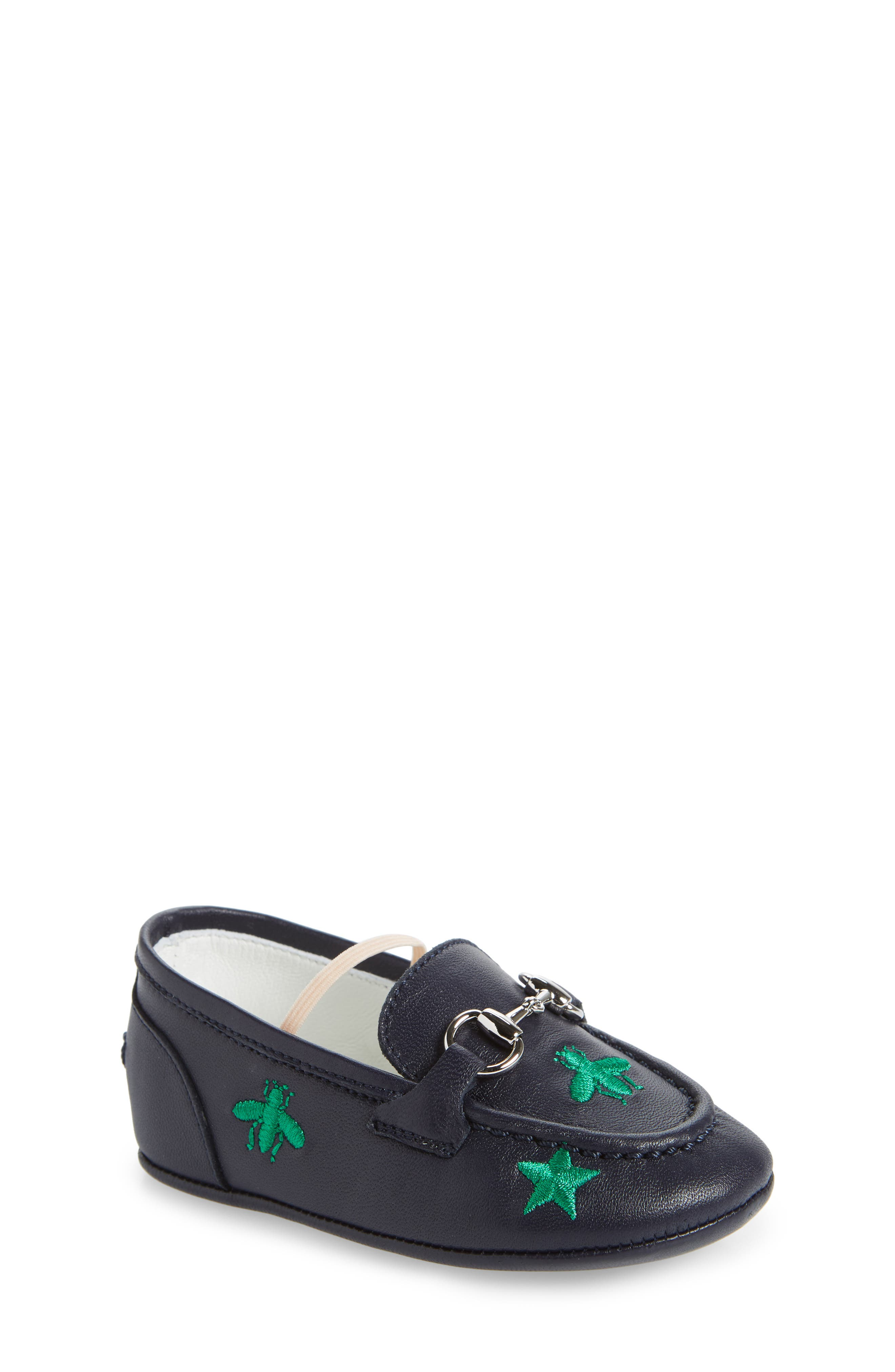 Gucci Baby Jordaan Embroidered Crib Loafer