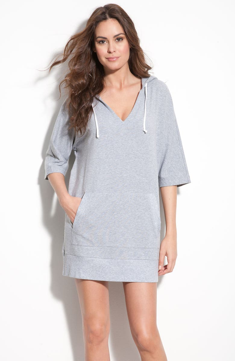 DKNY 'Sunny Escape' Hooded Sleep Shirt, Main, color, 030