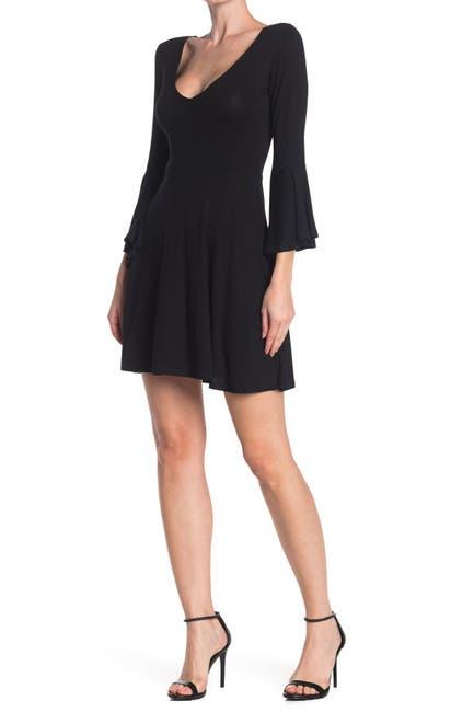 Image of Angie Angel Sleeve Knit Dress