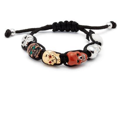 Erwin Pearl Skulls Adjustable Shambala Bracelet