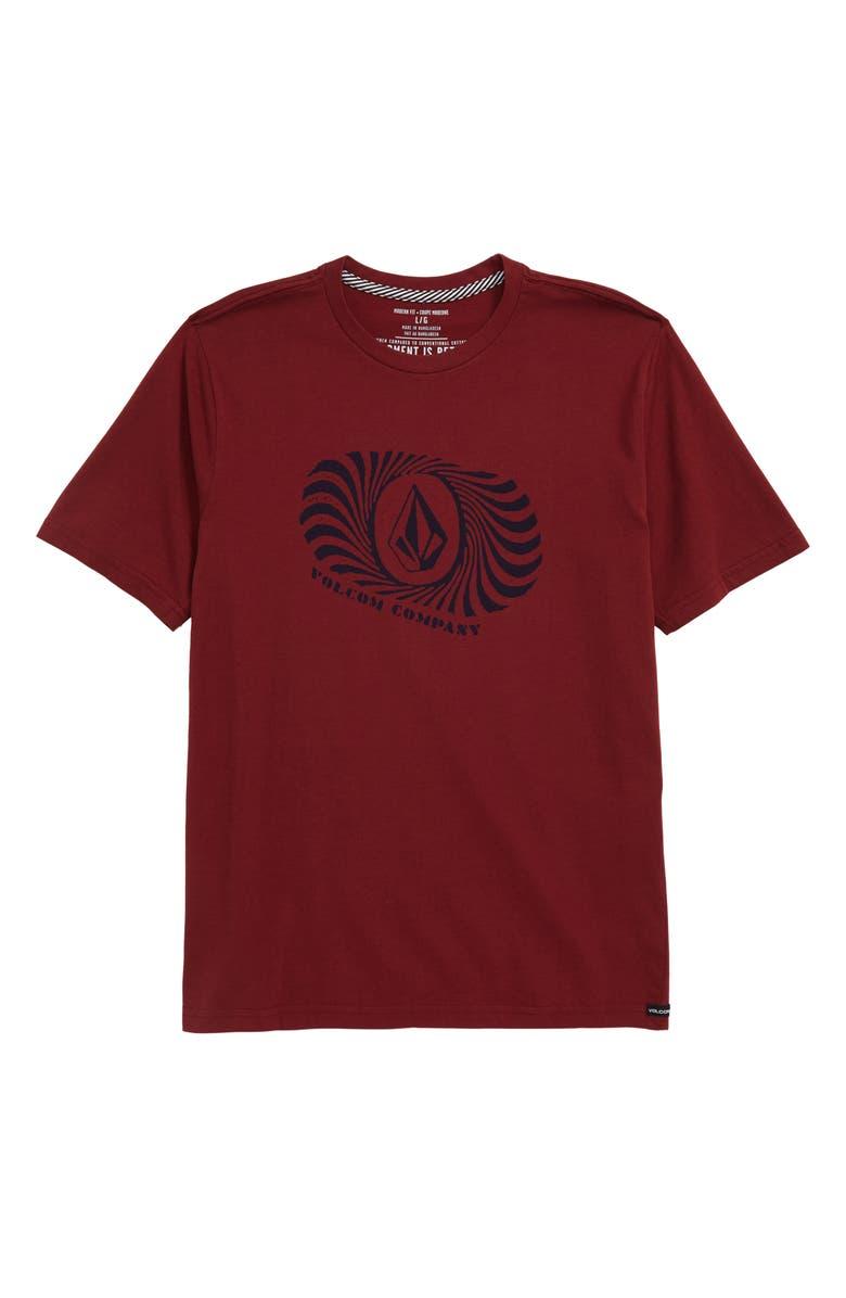 VOLCOM Numeral Graphic T-Shirt, Main, color, CABERNET