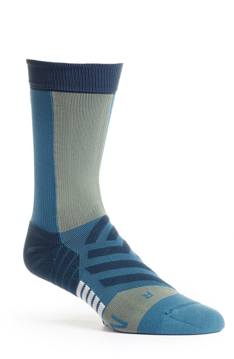 ON Running Crew Socks, Main, color, STORM/MOSS