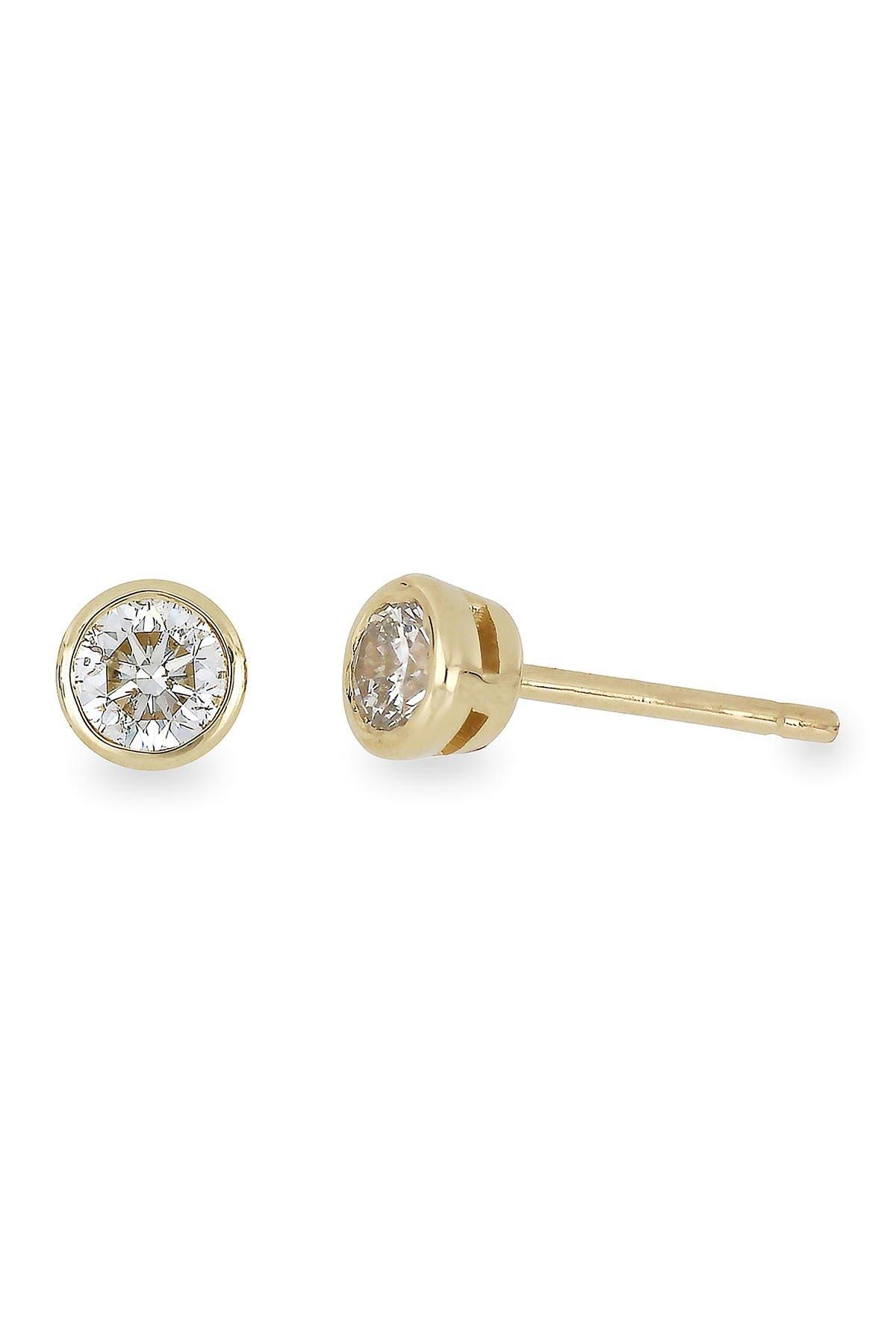 Image of Bony Levy 14K Gold Round-Cut Diamond Stud Earrings - 0.75 ctw