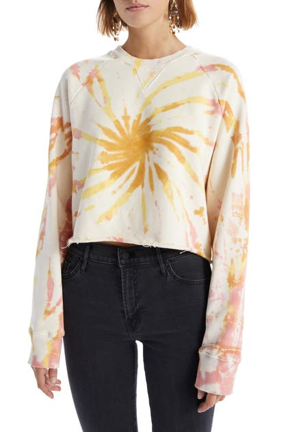 Mother THE LOAFER TIE DYE CROP SWEATSHIRT