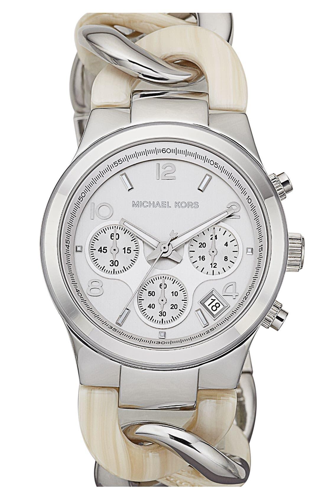 ,                             Michael Kors Chain Bracelet Chronograph Watch, 38mm,                             Main thumbnail 5, color,                             041