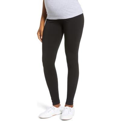 Angel 2-Pack Maternity Belly Support Maternity Leggings, Black