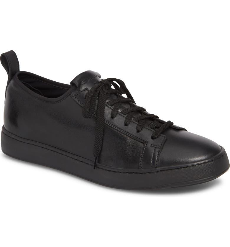 SANTONI Clean Iconic Sneaker, Main, color, BLACK