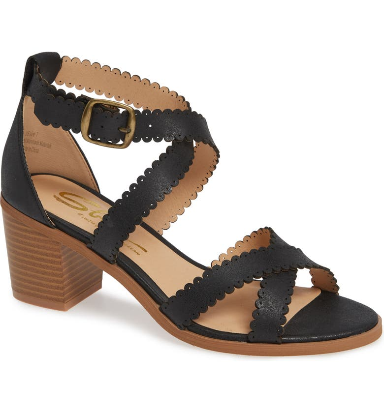 SBICCA Venka Sandal, Main, color, BLACK FAUX LEATHER