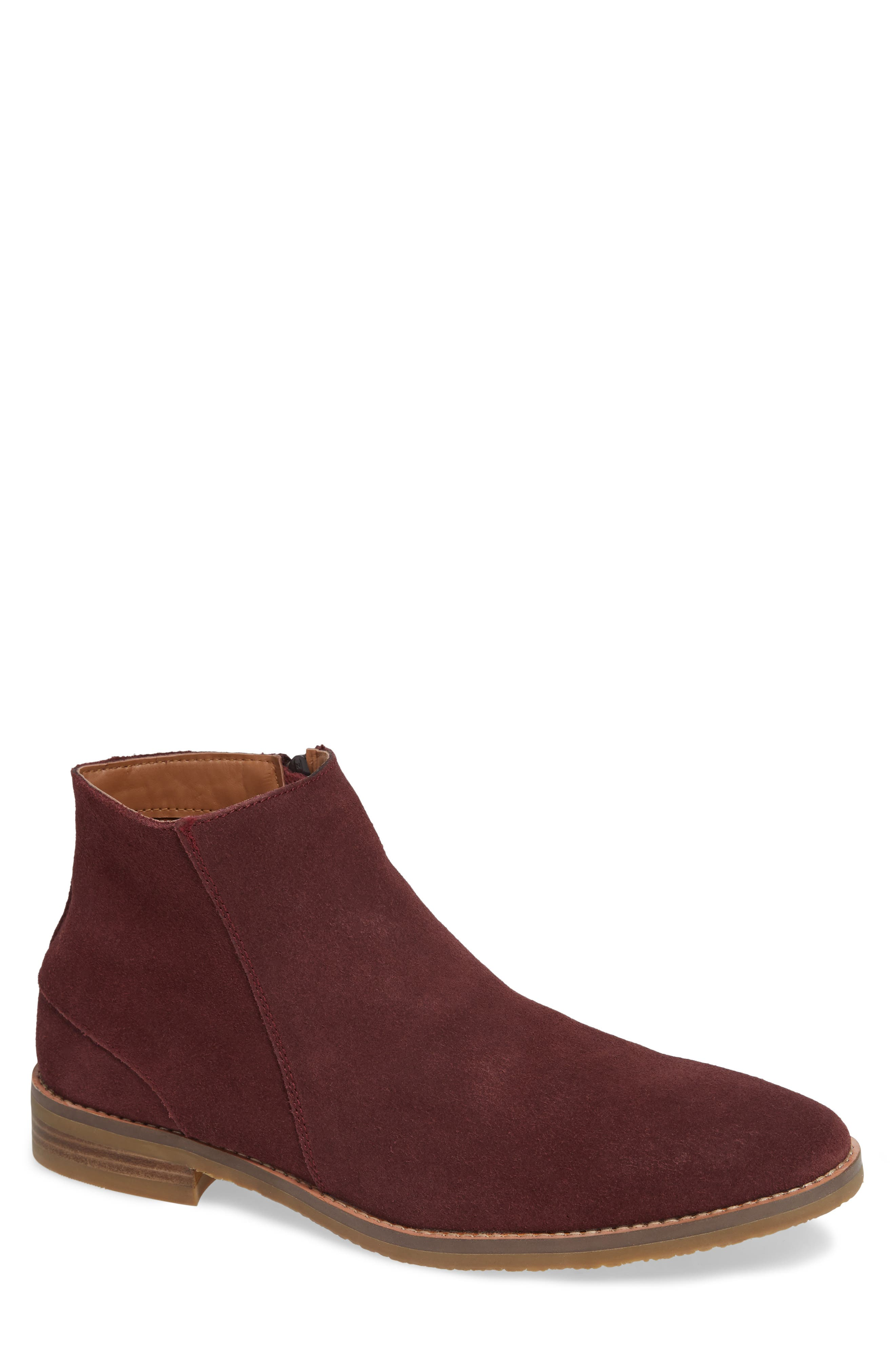 Jump Brighton Chelsea Zip Boot, Red