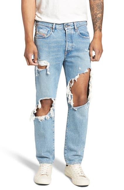 Image of Diesel Mharky Slim Skinny Distressed Jeans