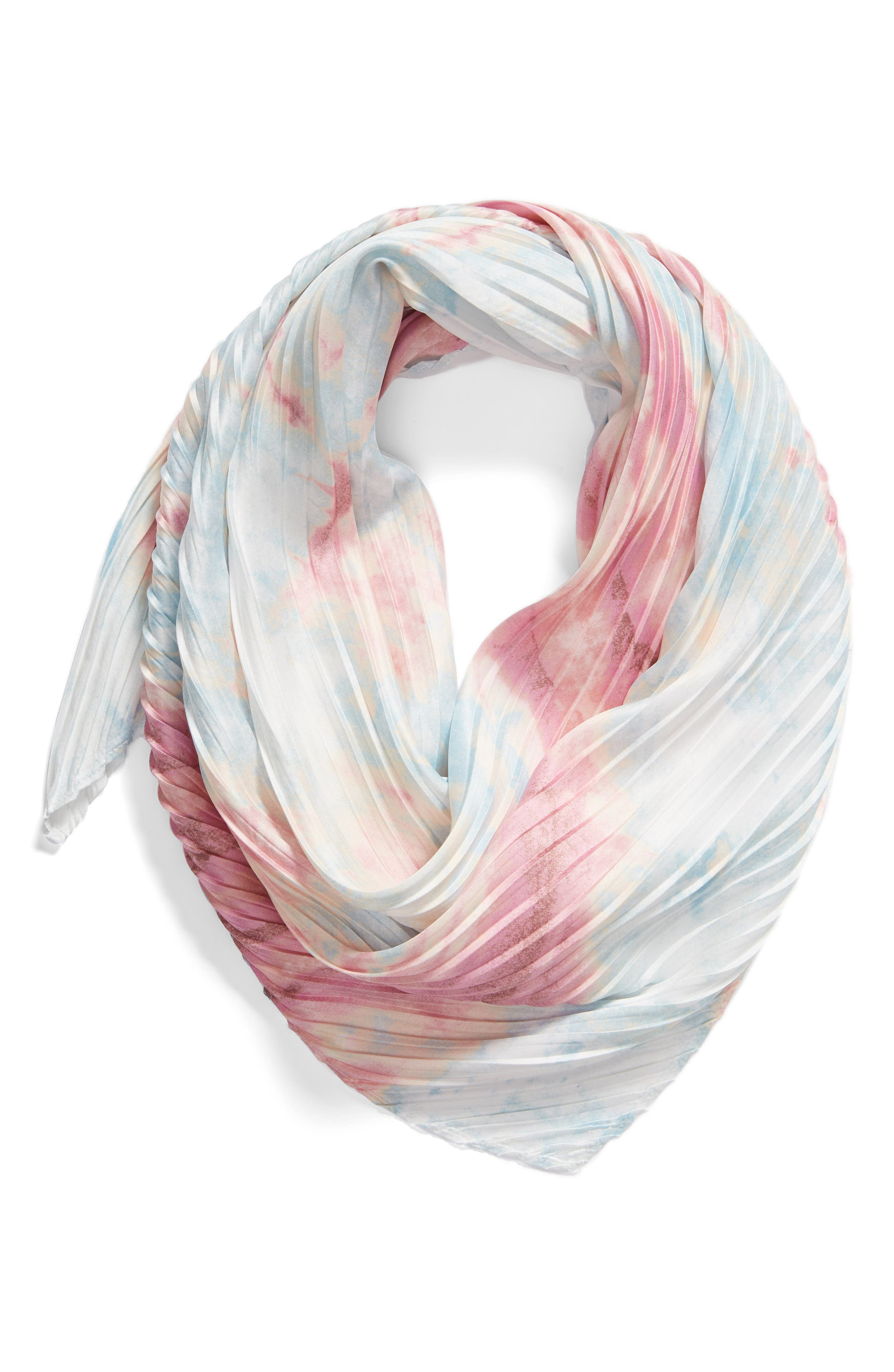 ,                             Pleated Square Scarf,                             Alternate thumbnail 6, color,                             680