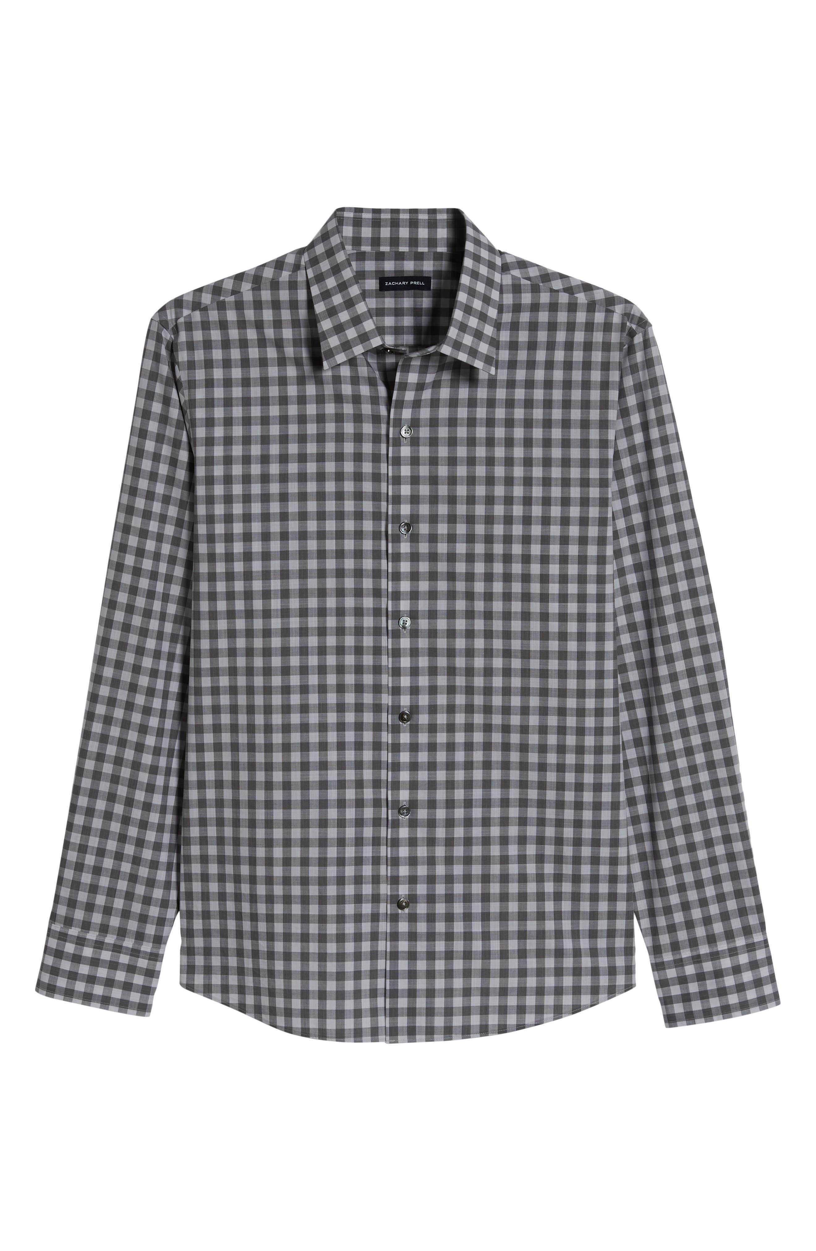 ,                             Schwantes Regular Fit Check Sport Shirt,                             Alternate thumbnail 5, color,                             GREY