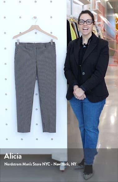 Treeca 4 Stripe Stretch Cotton Crop Pants, sales video thumbnail