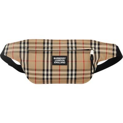 Burberry Check Canvas Belt Bag - Beige