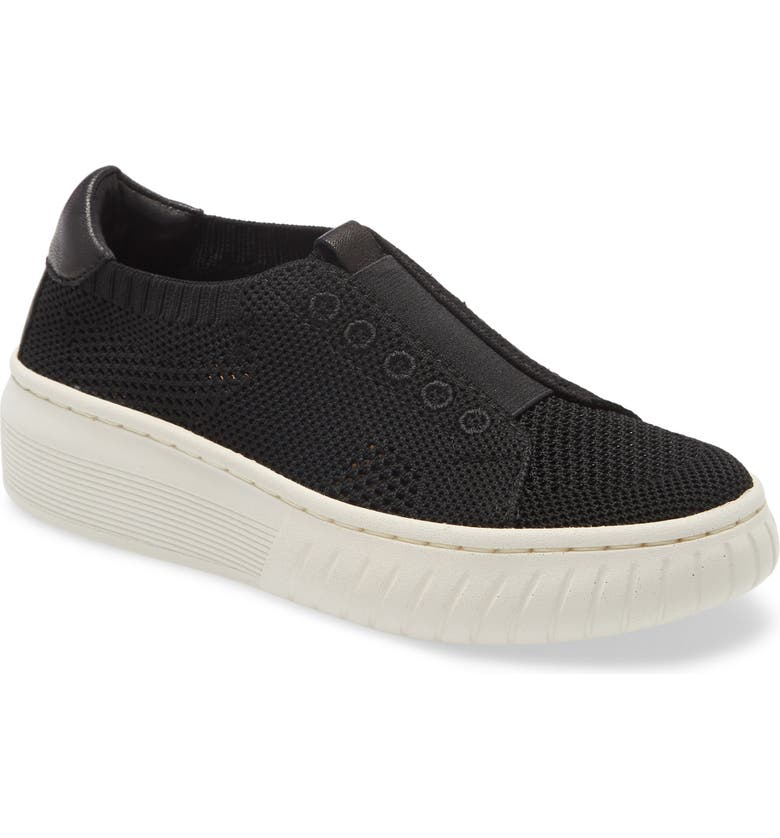 SÖFFT Payton Knit Platform Slip-On Sneaker, Main, color, 001