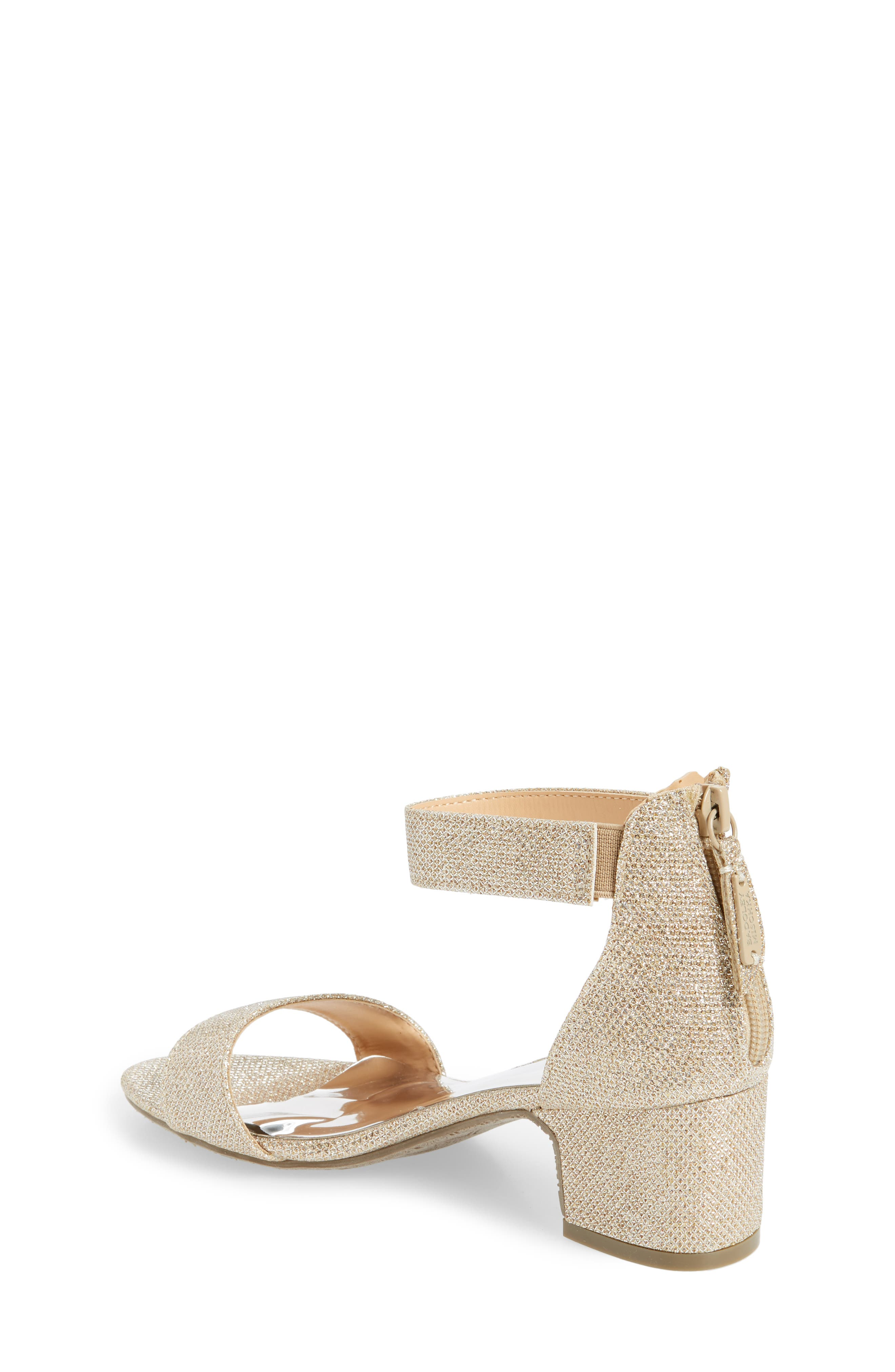 ,                             Badgley Mischka Pernia Velma Shimmer Sandal,                             Alternate thumbnail 2, color,                             LIGHT GOLD SHIMMER