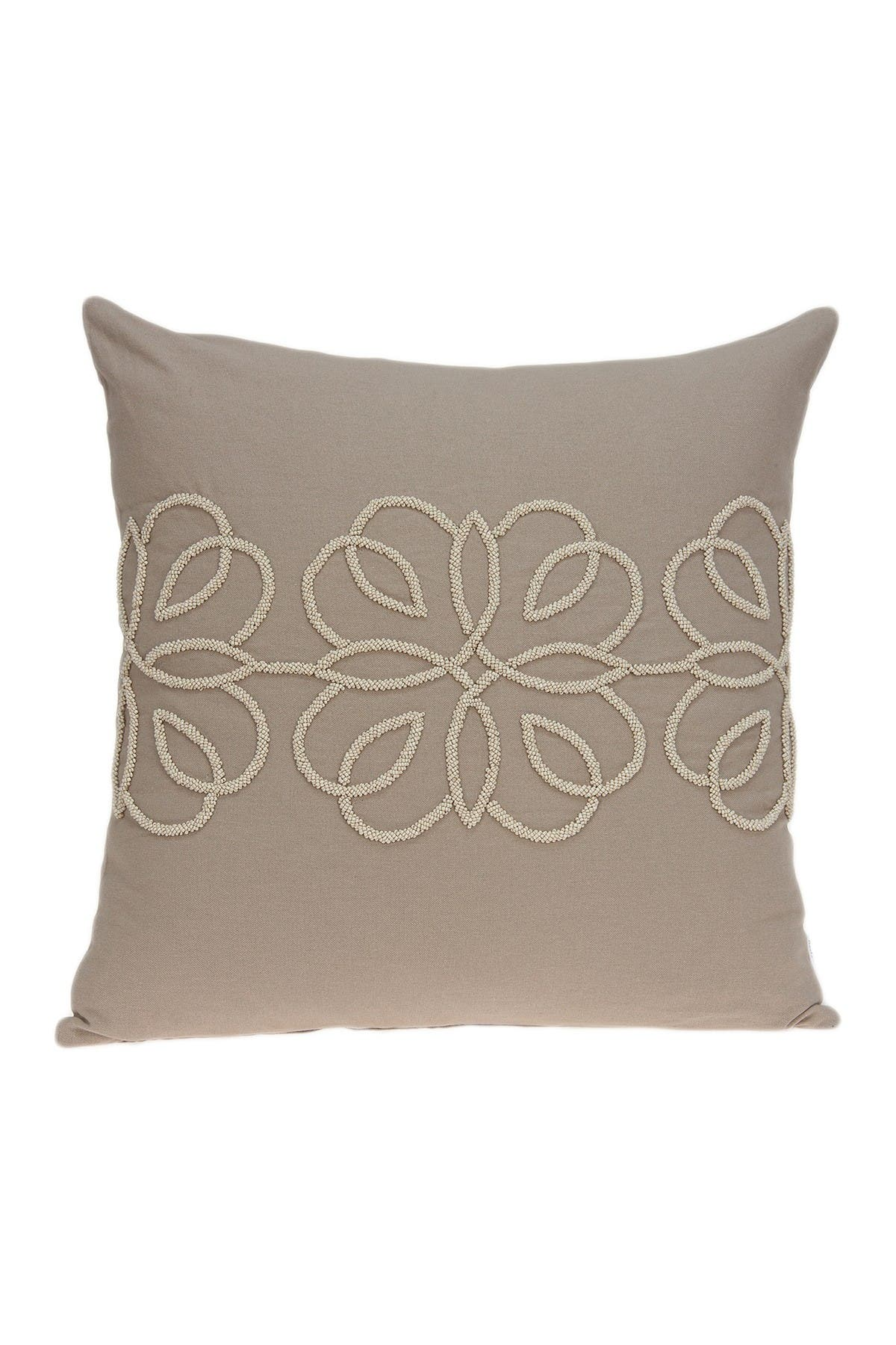 """Image of Parkland Collection Sutra Transitional Pillow - 20"""" x 20"""" - Tan"""