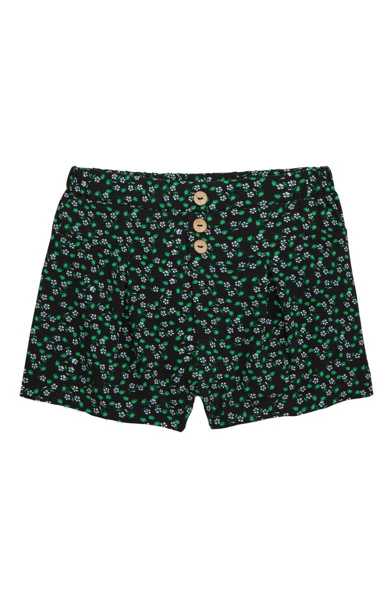 GOOD LUCK GIRL Ditsy Floral Woven Shorts, Main, color, 001