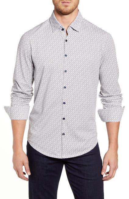 Image of Stone Rose Geo Print Regular Fit Knit Shirt