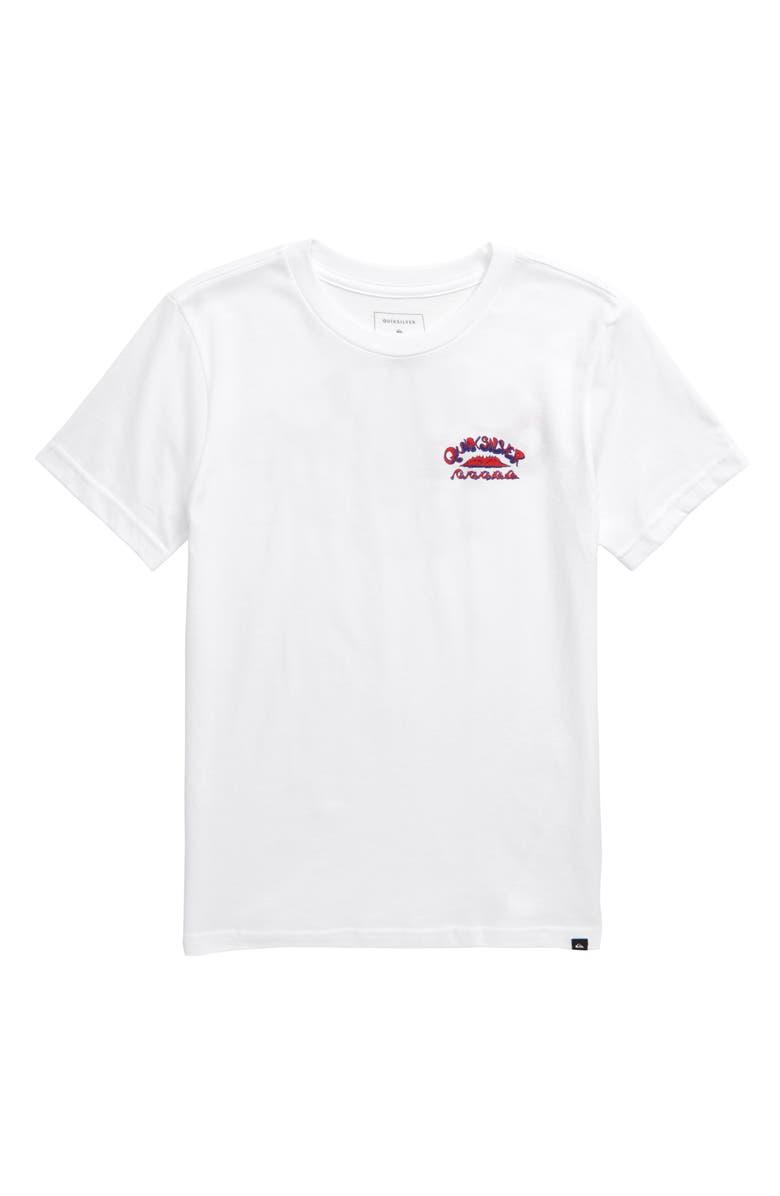 QUIKSILVER Wave Count T-Shirt, Main, color, WHITE