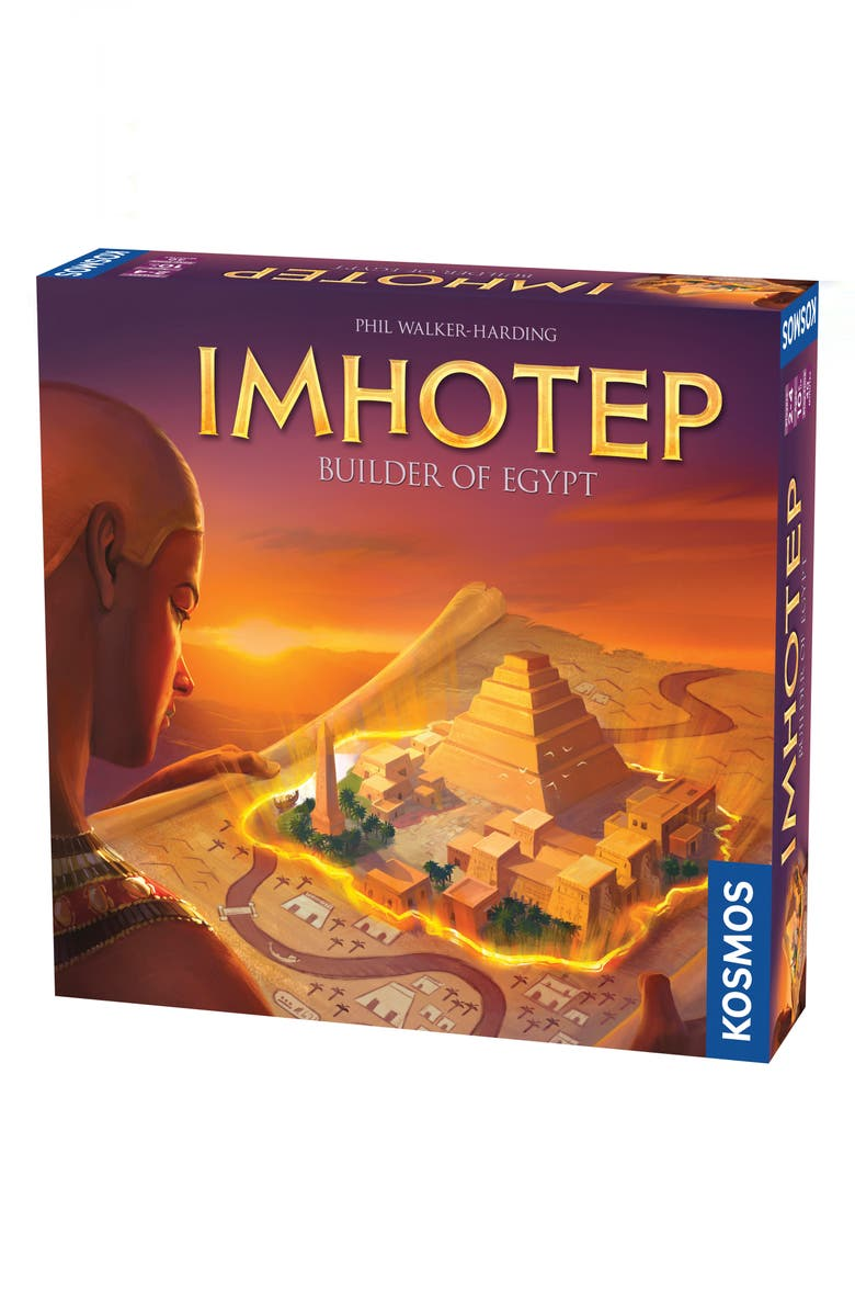 THAMES & KOSMOS Imhotep - Builder of Egypt Board Game, Main, color, NO COLOR