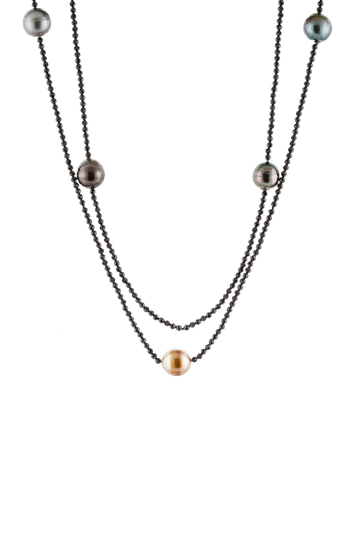 Image of Splendid Pearls 9-10mm Black Tahitian Pearl Endless Necklace