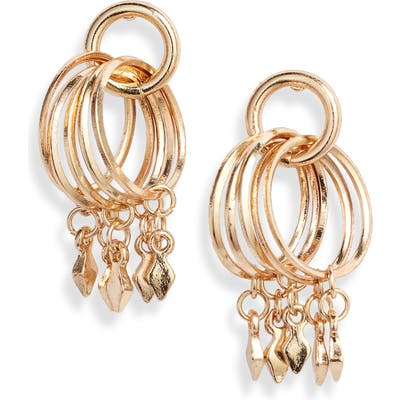 Ettika Bar Charm Hoop Earrings