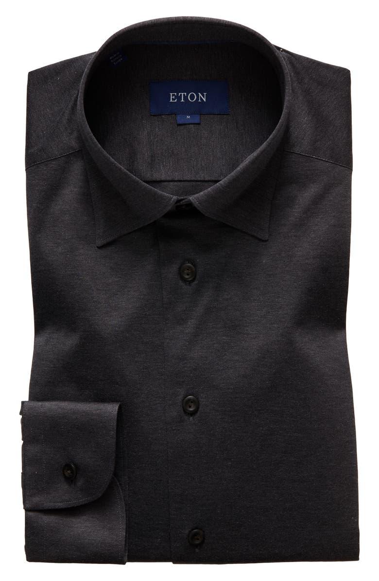 ETON Contemporary Fit Dress Shirt, Main, color, BROWN